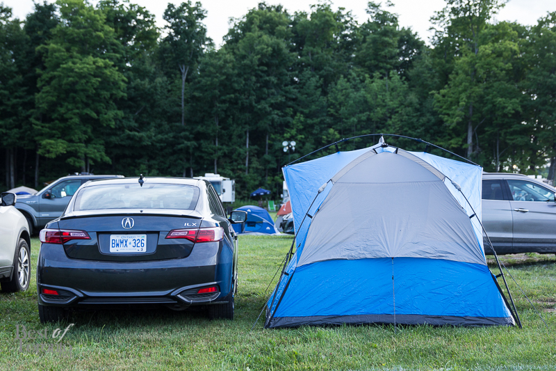 My humble little tent with the new 2016 Acura ILX A-Spec