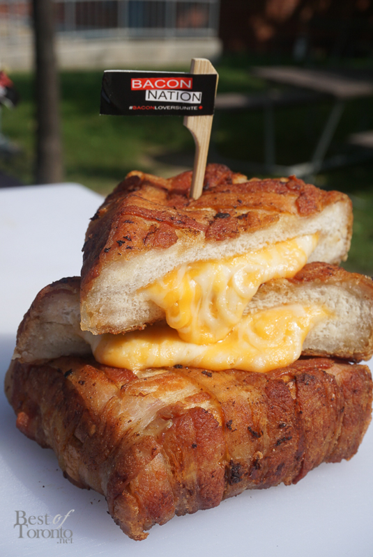 Bacon-wrapped Grilled Cheese (Bacon Nation, Food Building)