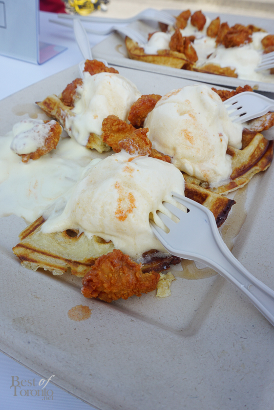 Chicken Waffles and ice cream - Fran's Restaurant ( Fran's, Food Building)