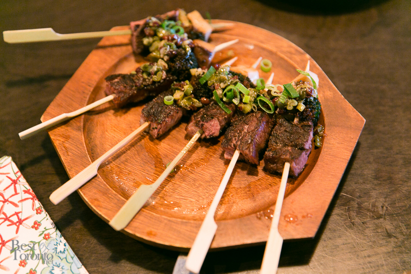 Lamb spiedini skewers from The Beech Tree