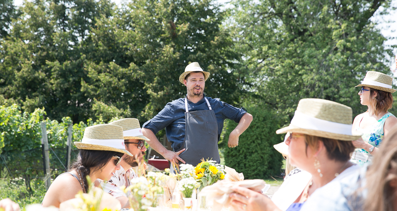 Adam Hynam-Smith talks about the 6-course lunch menu he prepared for us