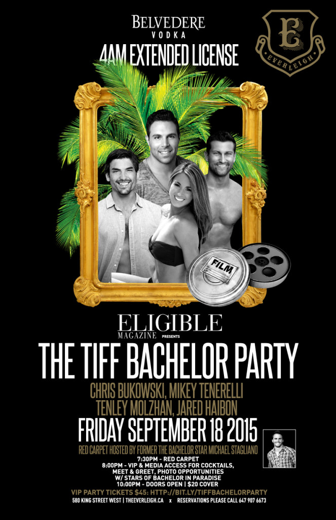 TIFF Eligible Bachelor Party Invite 2015