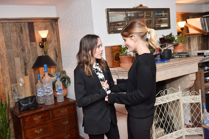 TORONTO, ON - SEPTEMBER 11:  Ellen Page and Kate Mara at the MY DAYS OF MERCY premiere party hosted by GREY GOOSE Vodka and Soho House on September 11, 2017 in Toronto, Canada.  (Photo by Stefanie Keenan/Getty Images for Grey Goose)
