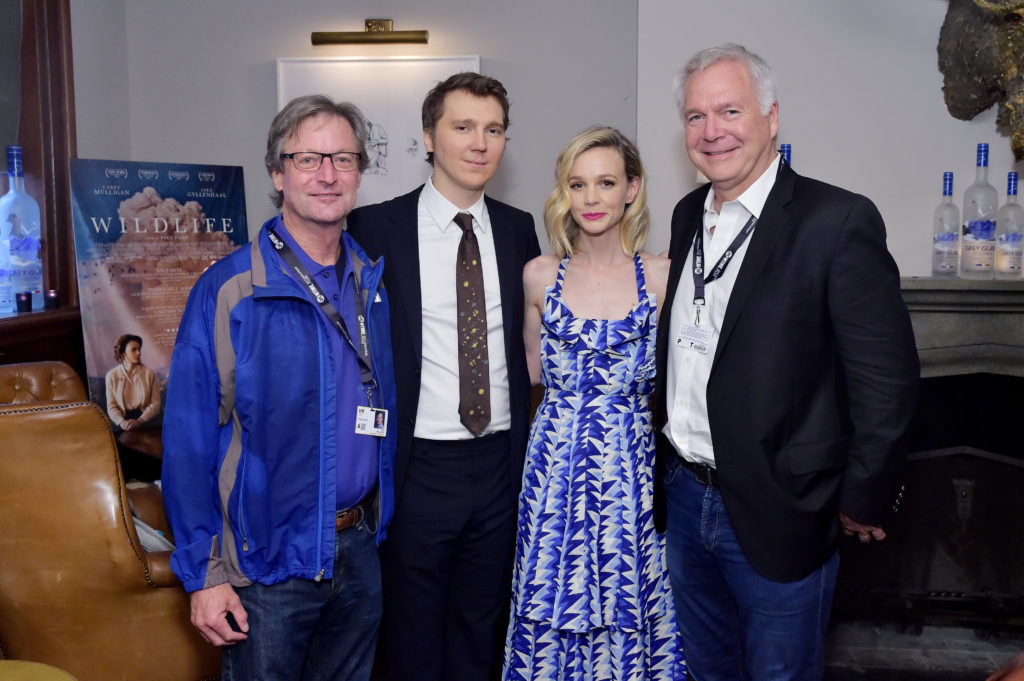 Ted Mundorff, Carey Mulligan, Paul Dano, Jonathan Sehring (Photo by Stefanie Keenan/Getty Images for Grey Goose)