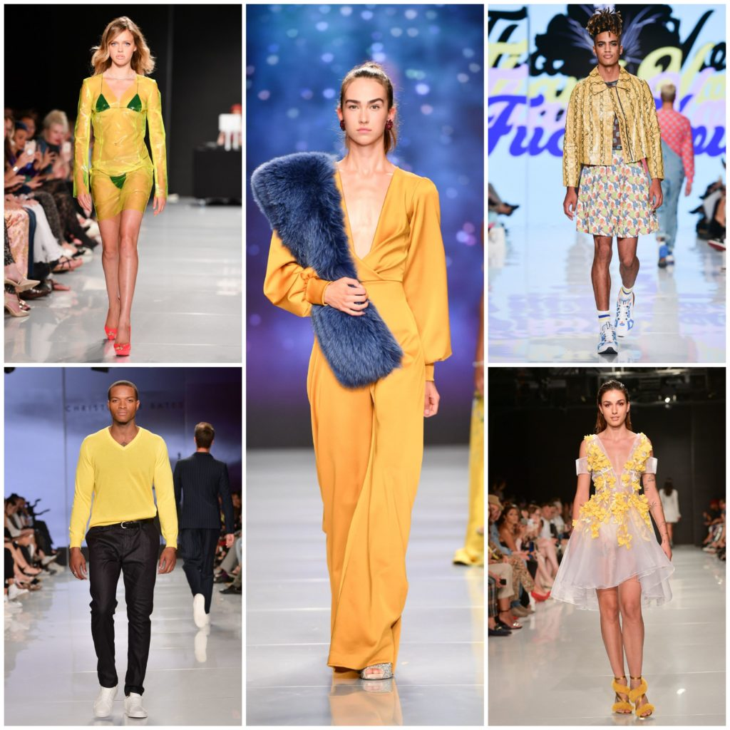 Colour Me Yellow (left to right: Hendrixroe, Christopoher Paunil, Hayley Elsaesser, Christopher Bates, Narces)