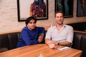 Shinan Govani sits with Cory Vitiello