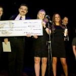 The DCMF presenting a cheque for $15,000 to the Princess Margaret Hospital