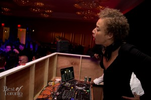 Stacey McKenzie at the DJ booth