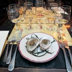 East Coast Oyster topped with Jim Beam jelly paired with Jim Beam bourbon