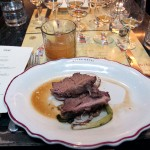 72 hour Basil Hayden's short ribs with charred green onions, red potato and creme fraiche paired with Knob Creek