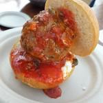 Pizzeria Libretto: Meatball with Ricotta & Salmoriglio