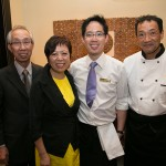 Ernest & Linda Liu (owner of Linda Thai), son Alan Liu (general manager and co-owner of Salad King and Linda Thai), Chef Wing Li