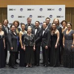 Ensemble Studio Competition finalists and winners with judges and (centre) the COC's General Director Alexander Neef and Music Director Johannes Debus | Photo: Michael Cooper