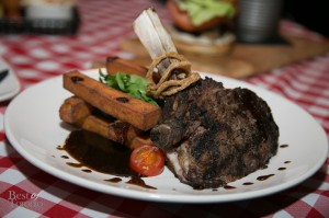 Cowboy Steak 10 oz Bone-in Rib Eye, Mustard Jus,