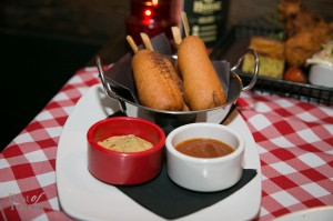 Corn Dawg with Spiced Mustard, Chili Ketchup