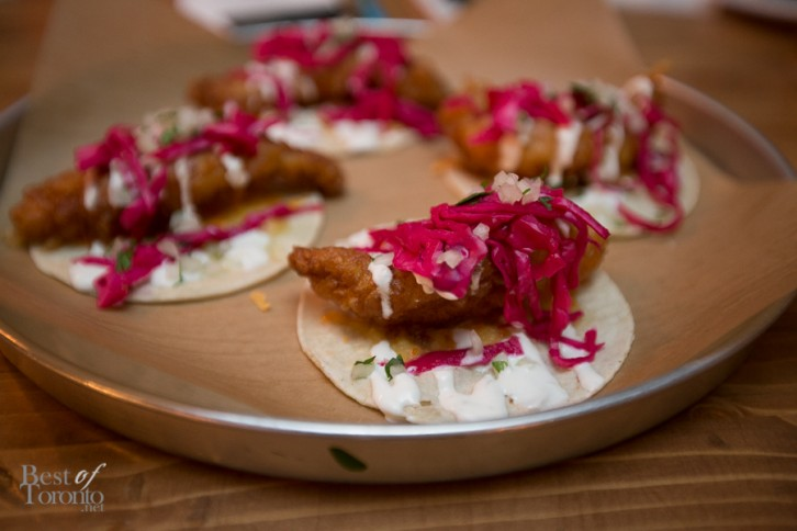 Crisp and lightly beer battered grouper taco