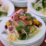 Pear and fennel salad with layers of textures
