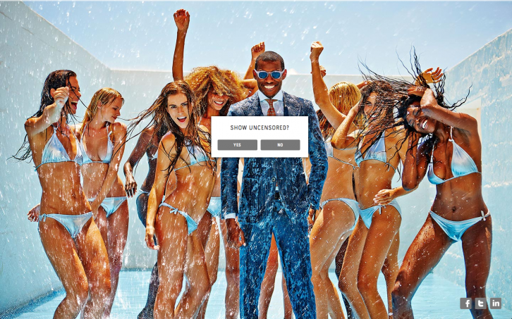"The SS14 campaign on SuitSupply.com: ""Show Uncensored?"""