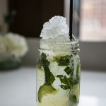 """Canadian Cooler"" with Eristoff Vodka, Lime juice, Simple syrup, Mint leaves, Cucumber slices"