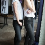 "L: Wearing ""Collin"" skinny jeans R: Wearing ""Barbara"" high-waist, super skinny and sleek"