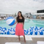 Patricia Juggernauth posing poolside for me