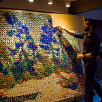 Rubik's cubes installation of Tom Thomson's 'Byng Inlet' by Cube Works Studio