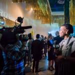 Power Plant Director Gaëtane Verna being interviewed by CityTV | Photo: John Tan