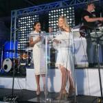 Hosts Sangita Patel and Cheryl Hickey on stage
