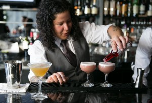 Alana Nogueda serving up some Adult's Beverage cocktails