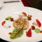 Fois Gras Torchon with granola, walnuts, strawberry, fennel and warm brioche