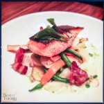Chinook Salmon with Spring Vegetable Hodge Podge