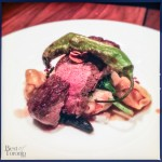 Turf and Turf (Bison Short Loin and Foie Gras Tortellini)
