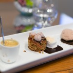S'mores brûlée, graham cracker cake and chocolate Lindt ice cream