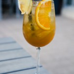 A More Romantic Name - Rum, Cognac, Luxardo Maraschino, Apricot Brandy, Citrus, Green Tea, Cava