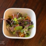 Corvina Ceviche - Maple Candied Sweet Potato, Celery & Lime Marinade, Cilantro, Cucumber, Red Onion - delicious!