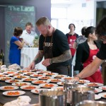 Chef Derek Dammann preparing Raw Sockeye Salmon & Tomato Vinaigrette
