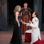 Shauna Black (Tamora) and James Graham (Saturnius) in Titus Andronicus| Photo: David Hou