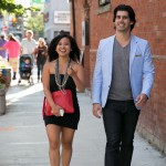 Amira De Vera and Mitch Parker walking in to the Express TIFF Preview