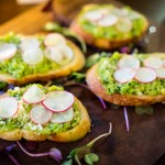 Sweet pea fava bean bruschetta | Photo: John Tan