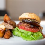 B.L.T. - Crispy Pork Jowl, Arugula, Scallion Mayo | Photo: Nick Lee