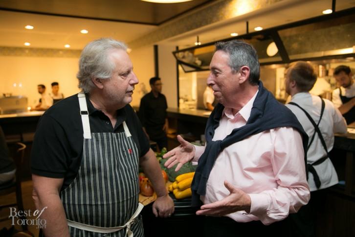 Chef John Waxman and Ivan Reitman