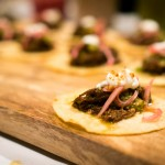 Mole braised beef cheek tostada | Photo: John Tan