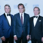 Will Arnett with Michael Burns (Chairman of the Board of Toronto East General Hospital Foundation) and Michael Geddes (Gala Chair)
