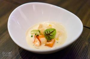 Cream of Chicken & Lobster Chowder   Photo: John Tan