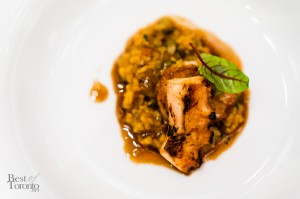 Roasted scallop jambalaya with foie gras, octopus, brown rice, andouille sausage | Photo: John Tan