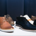 Louis Mile Designs men's shoes with perforated detailing at the TFI Buyers Brunch