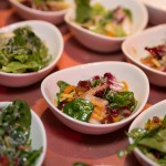 Warm Espelette Roasted Squash Salad with Bitter Greens, Cranberries and Peppered Maple Bacon Vinaigrette by Lora Kirk (Ruby Watchco)