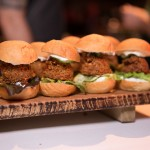Falafel Burger Sliders with Grilled Red Onion, Garlicky Greek Yogurt and Bibb Lettuce by Michael Hay (Canteen)