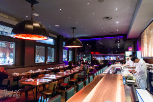 The main dining area at Blowfish Restaurant   Photo: Nick Lee