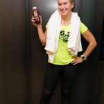 Nat Korol with a post-workout smoothie at Equinox
